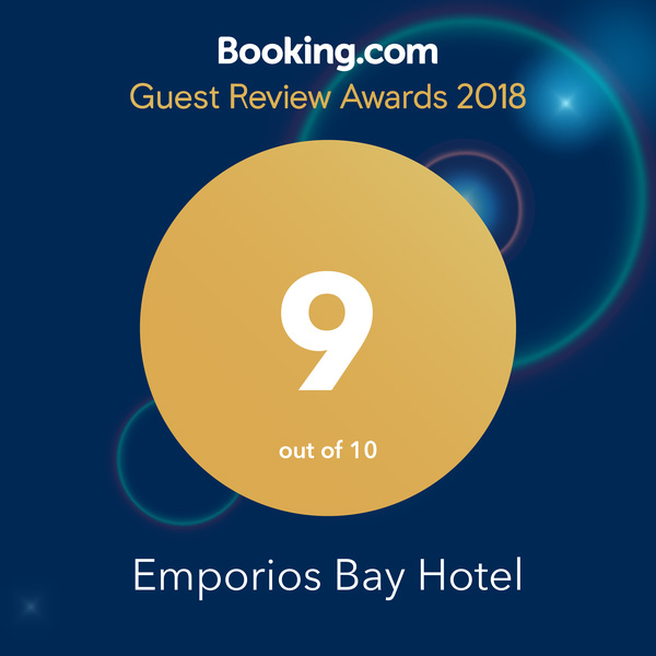 Booking.com Emporios Bay in Chios 2019 Award