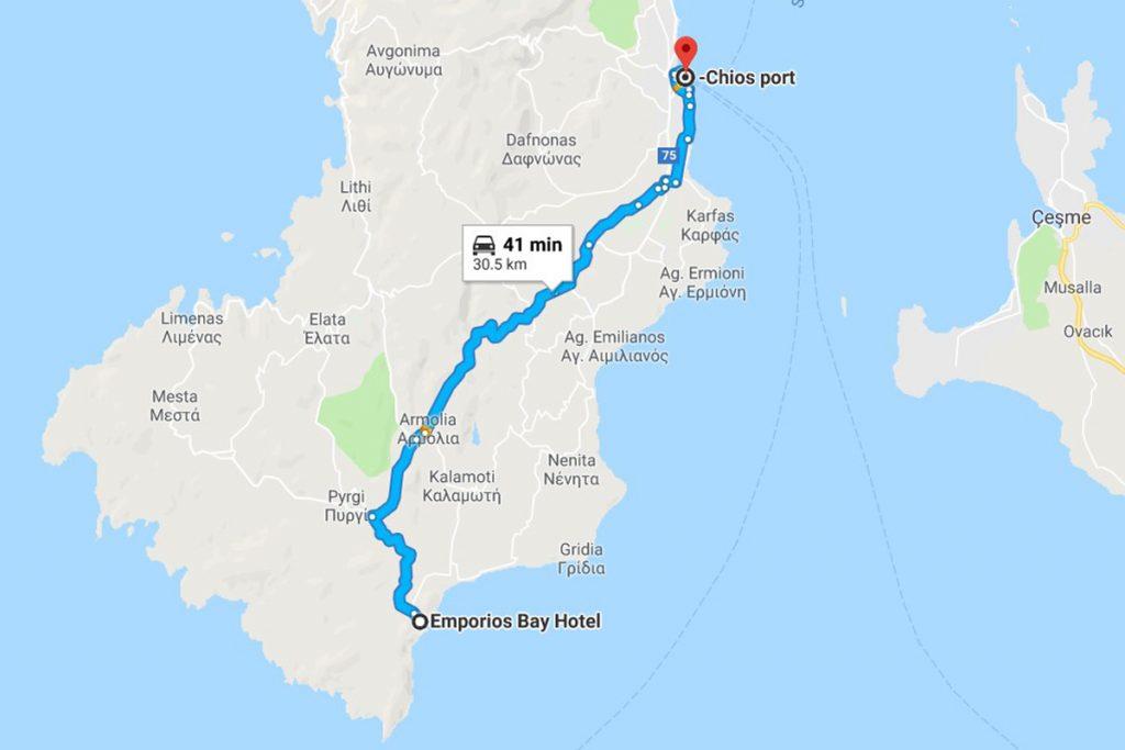 Chios Port - Emporios Bay Hotel