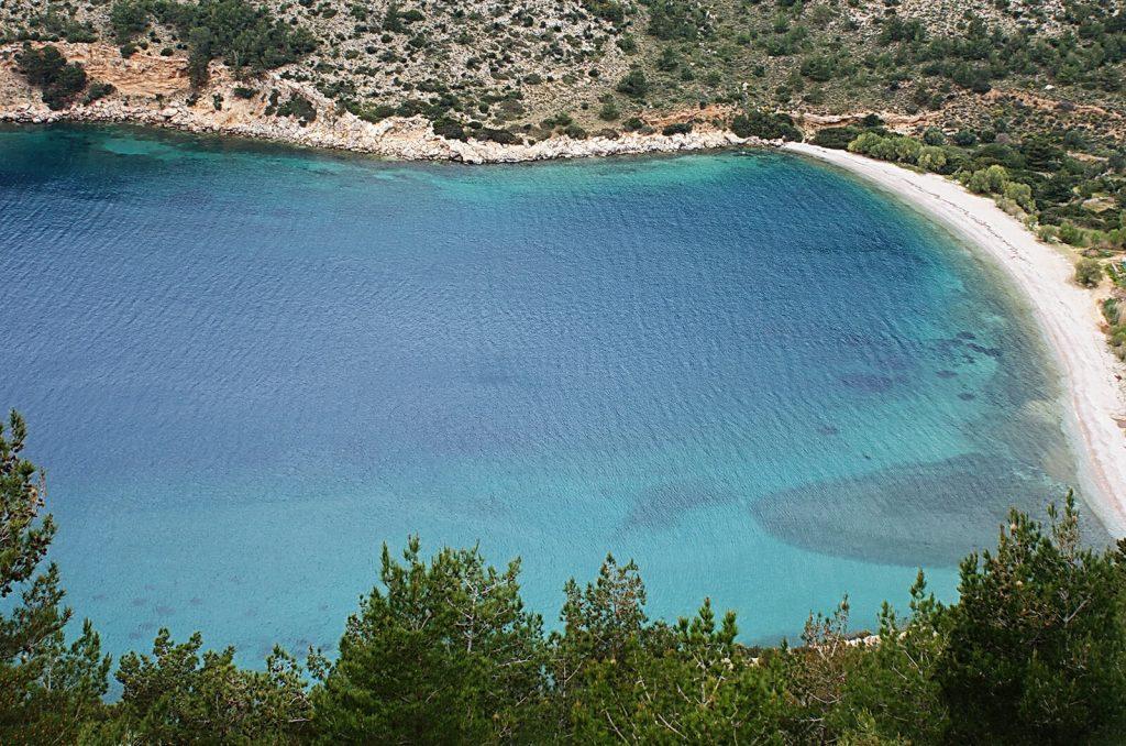 Elinta Beach North West Chios Mastic mastiha Mastihohoria