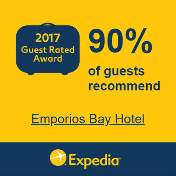 Expedia Emporios Bay in Chios Award