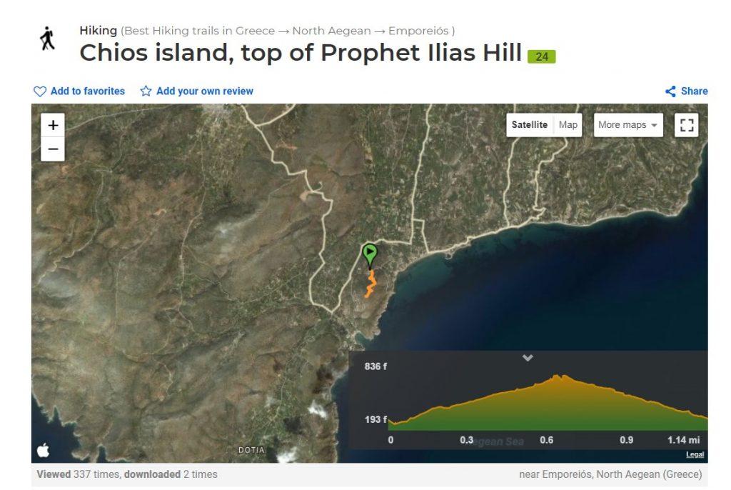 Hiking Trails Wikiloc Going Uphill Prophet Ilias Emporios Chios Emporios Bay Hotel Studios Apartments Greece Greek Island Mastiha Mastic Mastihohoria