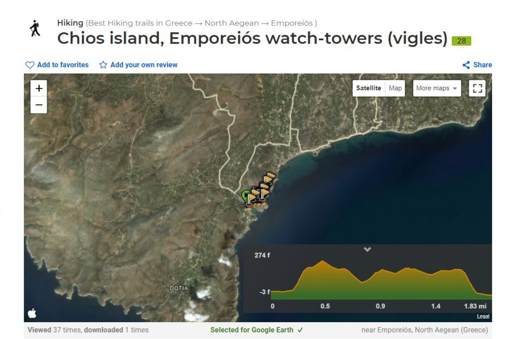 Hiking Trails Wikiloc Emporios Watch Towers Vigles Chios Emporios Bay Hotel Studios Apartments Pool Breakfast Emborios Eborios Mastiha Mastic Mastihohoria Greece Greek Island Hellas