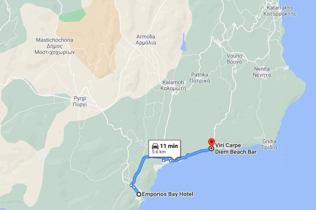 Viri Beach Emporios Bay Hotel in Chios